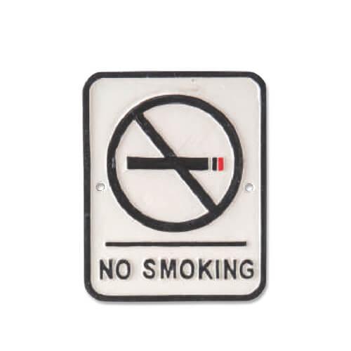 63418 アイアンプレート NO SMOKING